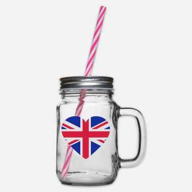 Shape Underwear Heart Britain - Glass jar with handle and screw cap