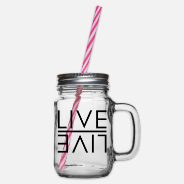 Live LIVE - LIVE - Glass jar with handle and screw cap