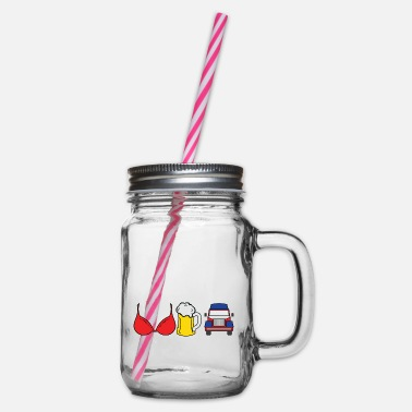 Underwear I'm A Simple Man Boobs Tits Bra Underwear Beer - Glass jar with handle and screw cap