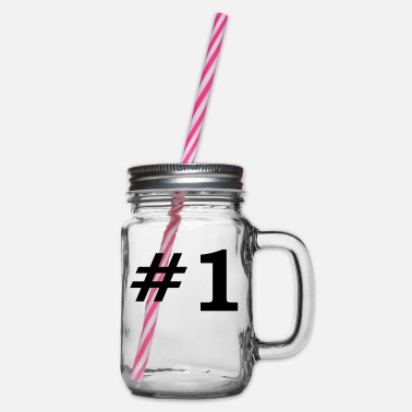 Number One Number One - Glass jar with handle and screw cap