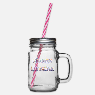 Change Direction - Glass jar with handle and screw cap