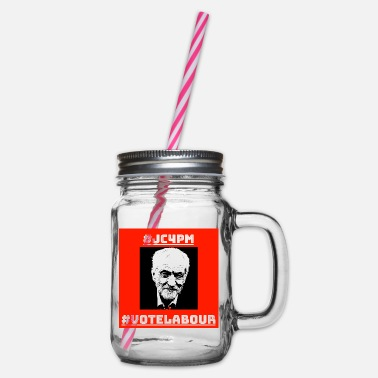 Vote Jeremy Corbyn For Prime Minister - Glass jar with handle and screw cap