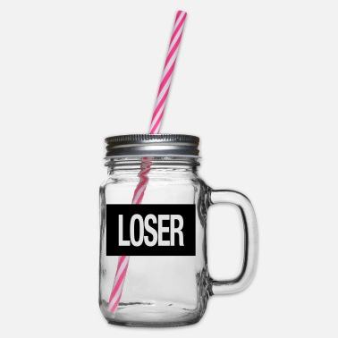Loser Loser - Glass jar with handle and screw cap