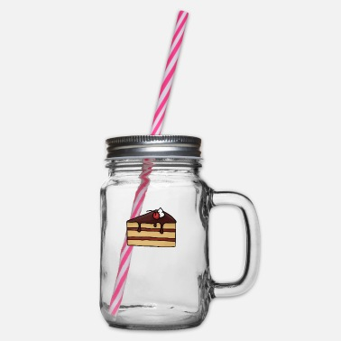 Cake cake cake - Glass jar with handle and screw cap