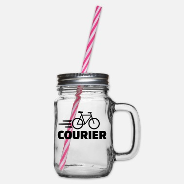 Courier Bike courier - Glass jar with handle and screw cap