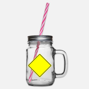 Sign Sign sign - Glass jar with handle and screw cap