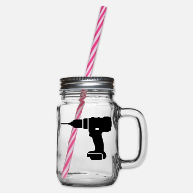 Tools tools - Glass jar with handle and screw cap