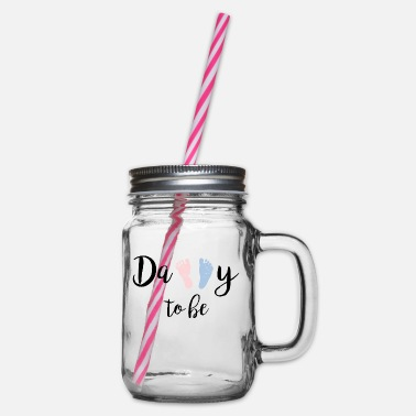 Daddy To Be Daddy To Be - Glass jar with handle and screw cap