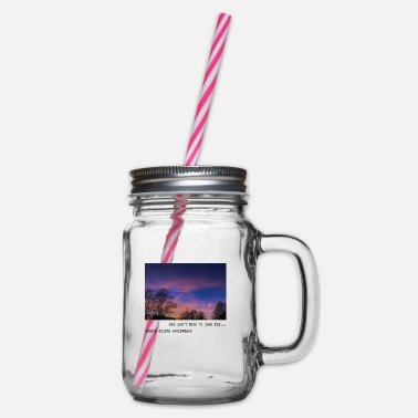 Aesthetic Beautiful Photography. Aesthetic Evening. Sunset - Glass jar with handle and screw cap