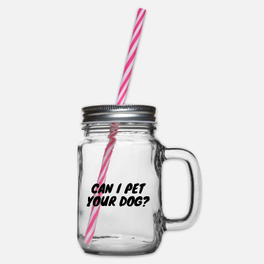 Golden Retriever Can I Pet Your Dog? - Glass jar with handle and screw cap