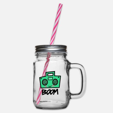 Boom Box boom box - Glass jar with handle and screw cap