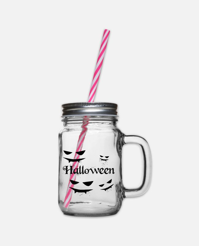 Diable Mugs et tasses - Halloween sanglant - Bocal à boisson transparent