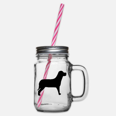 Ps Dog PS - Glass jar with handle and screw cap