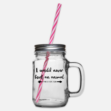 Animal Rights Activists Animal rights activists - Glass jar with handle and screw cap