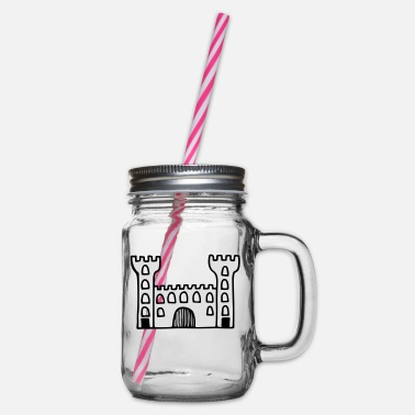 Castle castle - Glass jar with handle and screw cap