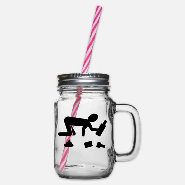 Vector party - Glass jar with handle and screw cap