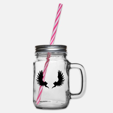Garden Underwear Back Wings - Glass jar with handle and screw cap