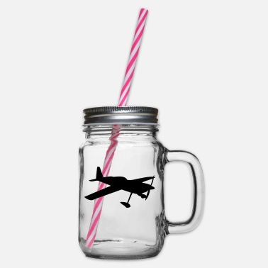 Aircraft aircraft - Glass jar with handle and screw cap