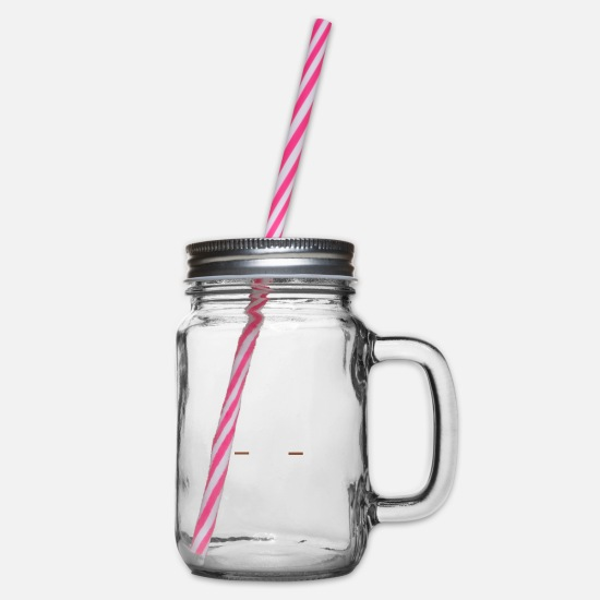 New Mugs & Drinkware - Hobbies - fishing - Glass jar with handle and screw cap clear