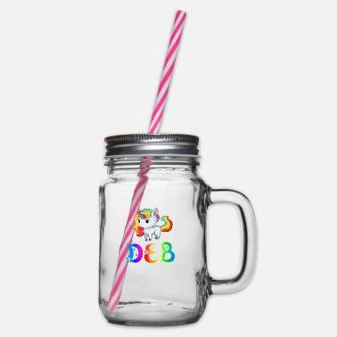 Deb Unicorn Deb - Glass jar with handle and screw cap