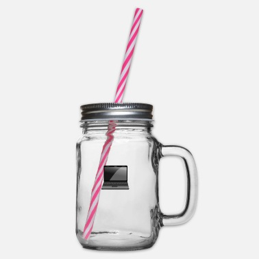Laptop Laptop - Glass jar with handle and screw cap