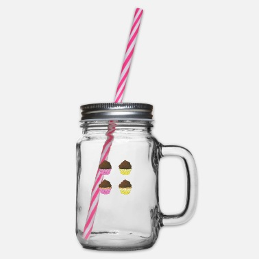 Cupcake Cupcakes - Glass jar with handle and screw cap