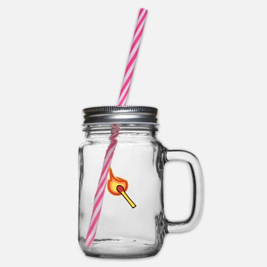 Match match - Glass jar with handle and screw cap