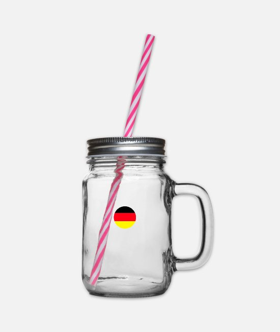 Bochum Mugs & Drinkware - BOCHUM - Glass jar with handle and screw cap clear