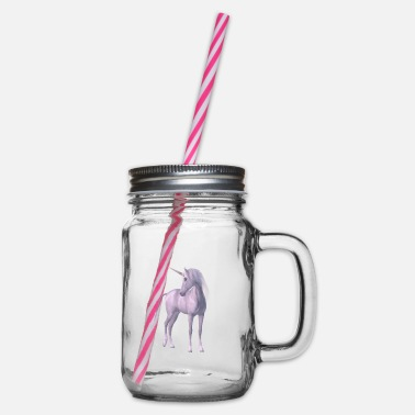 Mythical Mythical unicorn - Glass jar with handle and screw cap