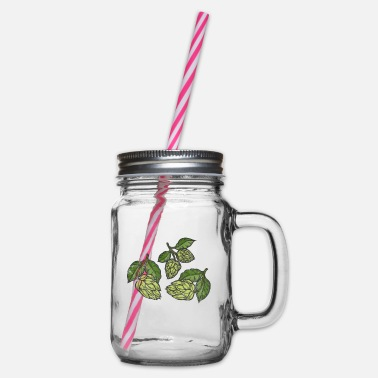 Hop hop - Glass jar with handle and screw cap