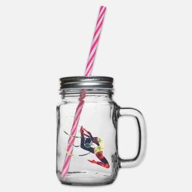 Gymnastic Rhythmic gymnastics / gymnastics / gymnastics - Glass jar with handle and screw cap