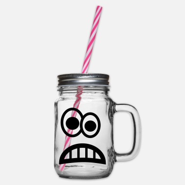 Angst Angst Emoji - Glass jar with handle and screw cap