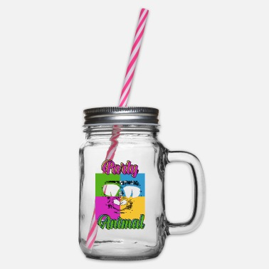 Clubbers Clubbers - Glass jar with handle and screw cap