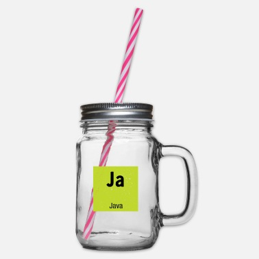 Java Java programming - Glass jar with handle and screw cap