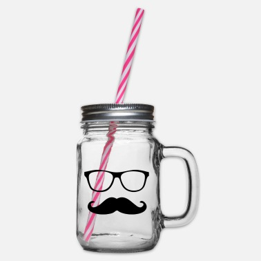 Schnäucher with glasses - Glass jar with handle and screw cap