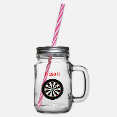 darts - Glass jar with handle and screw cap