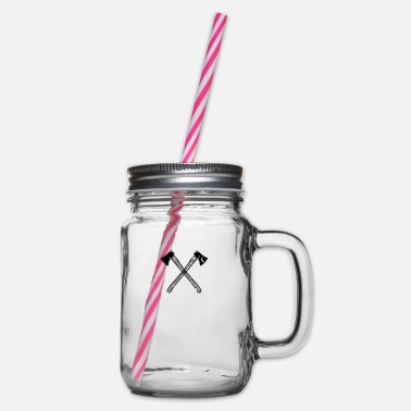 Axe ax axes - Glass jar with handle and screw cap