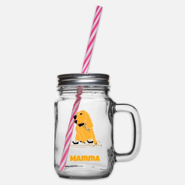Make Phone Calls Dogs mom gift fun - Glass jar with handle and screw cap