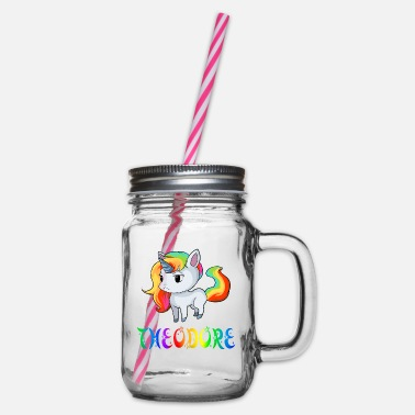 Theodor Unicorn Theodore - Glass jar with handle and screw cap
