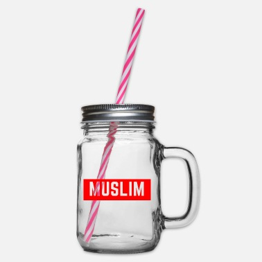 Muslims Muslim / Muslim - Glass jar with handle and screw cap