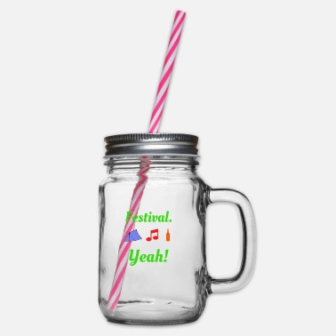 Festival Festival Yeah Music Party - Glass jar with handle and screw cap
