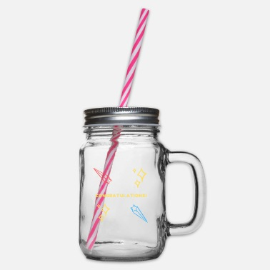 Congratulations congratulations - Glass jar with handle and screw cap