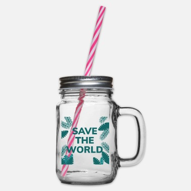 Save The World SAVE THE WORLD - Glass jar with handle and screw cap
