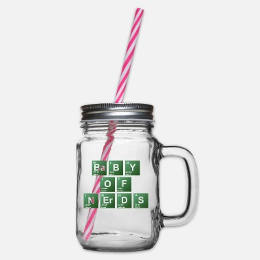 Periodic Baby of nerds periodic table - Glass jar with handle and screw cap