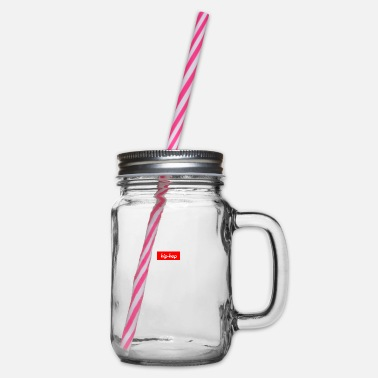 Hip hip hop - Glass jar with handle and screw cap