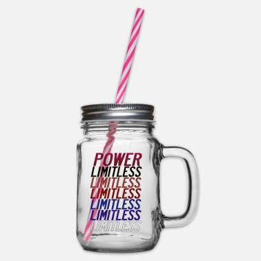 Highperformance Sport You Are the power, Limitless one. - Glass jar with handle and screw cap