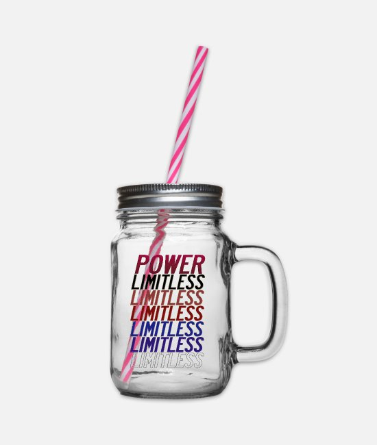 Movie Mugs & Drinkware - You Are the power, Limitless one. - Glass jar with handle and screw cap clear