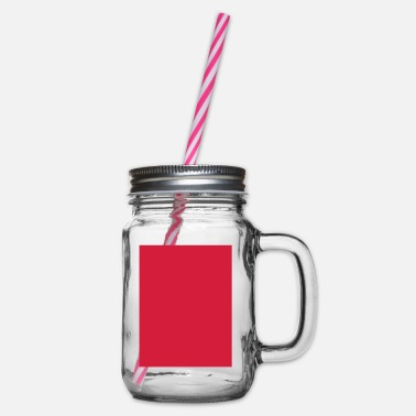 Red Card red card - Glass jar with handle and screw cap