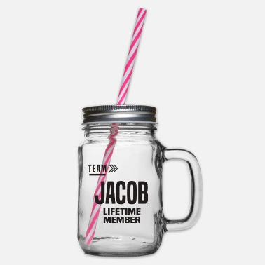 Jacob - Glass jar with handle and screw cap