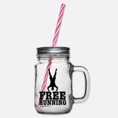 Free Running free running - Glass jar with handle and screw cap